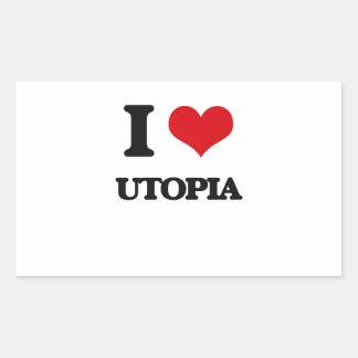 I love Utopia Rectangular Sticker