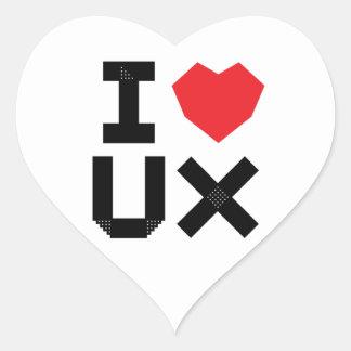 I Love UX (User Experience) Heart Sticker