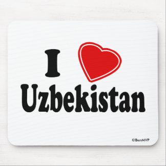 I Love Uzbekistan Mouse Pad