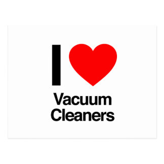 i love vacuum cleaners postcard