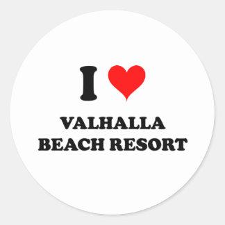 I Love Valhalla Beach Resort Florida Round Stickers