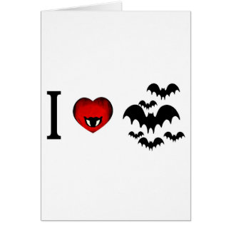 I Love Vampire Bats Greeting Card
