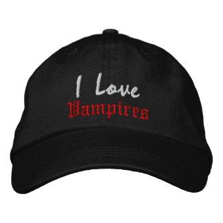 I Love , Vampires Baseball Cap