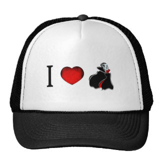I Love Vampires Mesh Hats