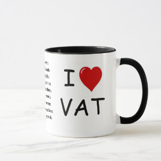 I Love VAT - triple sided VAT mug