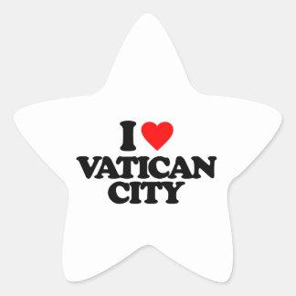 I LOVE VATICAN CITY STAR STICKERS