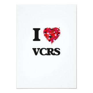 I love Vcrs 13 Cm X 18 Cm Invitation Card