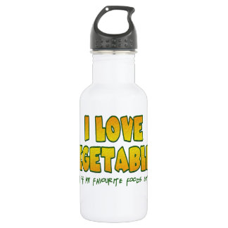 I love vegetables 532 ml water bottle