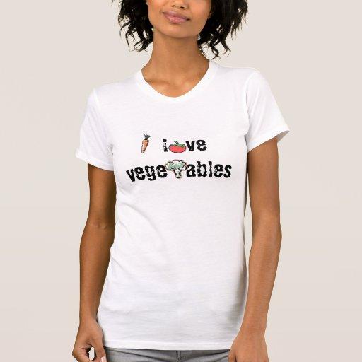 I love vegetables tshirts