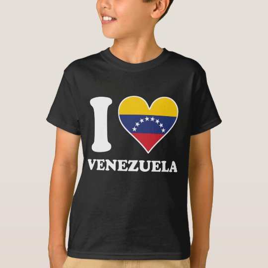 I Love Venezuela Venezuelan Flag Heart T-Shirt