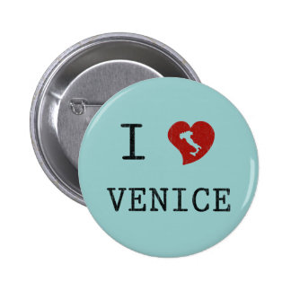 I Love Venice 6 Cm Round Badge