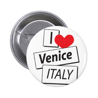 I Love Venice Italy Buttons