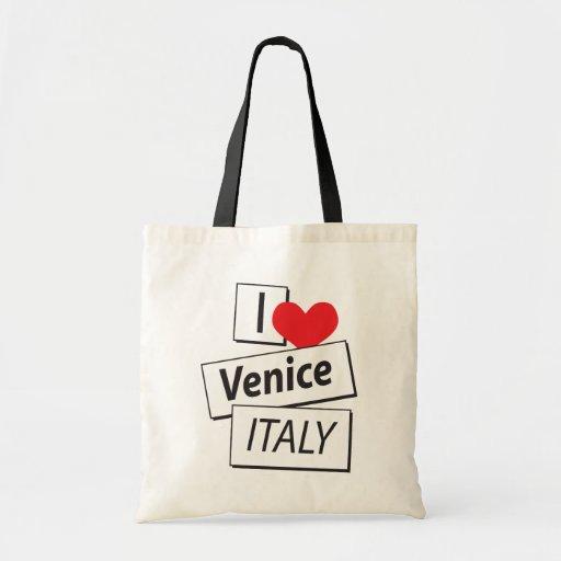 I Love Venice Italy Canvas Bags