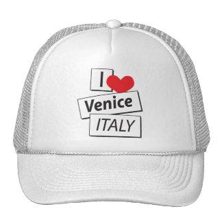 I Love Venice Italy Hats