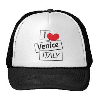 I Love Venice Italy Mesh Hats