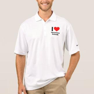 i love venomous animals polo t-shirts