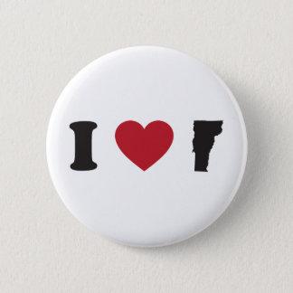 I love Vermont 6 Cm Round Badge