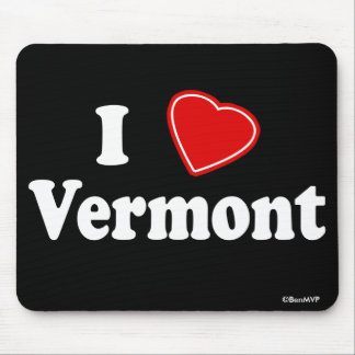 I Love Vermont Mouse Pads