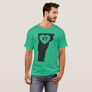 I Love Vermont State Men's Dark T-Shirt