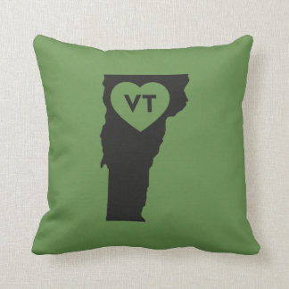 I Love Vermont State Throw Pillow