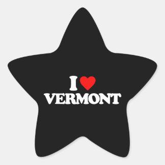 I LOVE VERMONT STAR STICKERS