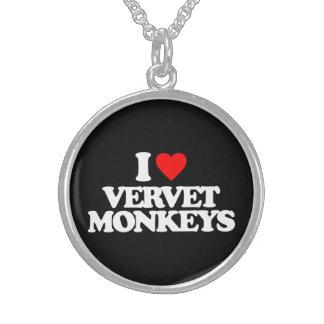 I LOVE VERVET MONKEYS NECKLACE