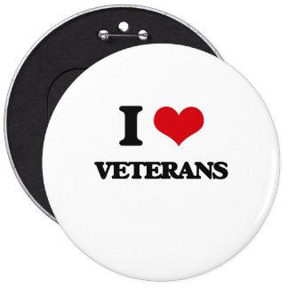 I love Veterans 6 Cm Round Badge