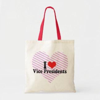 I Love Vice Presidents Budget Tote Bag