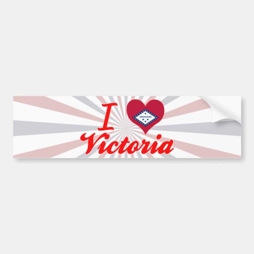 I Love Victoria, Arkansas Bumper Sticker