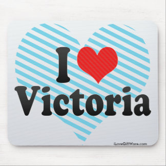 I Love Victoria Mouse Pad