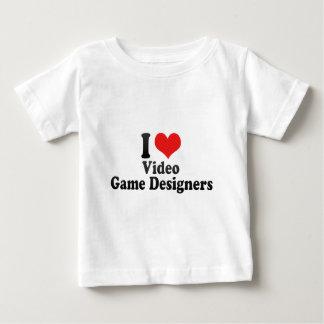 I Love Video Game Designers Baby T-Shirt