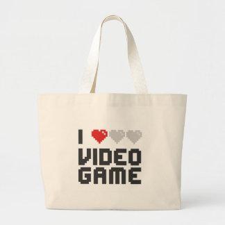 I Love Video Game Jumbo Tote Bag