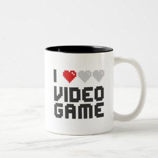 I Love Video Game Two-Tone Coffee Mug