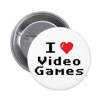 I Love Video Games 6 Cm Round Badge