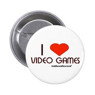 I Love Video Games Pinback Button