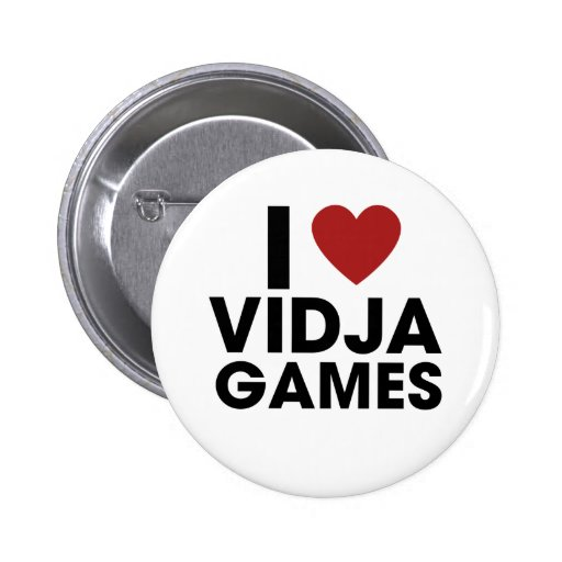 I love Video Games Pinback Buttons