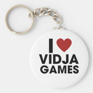 I love Video Games Basic Round Button Key Ring
