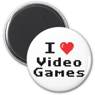 I Love Video Games 6 Cm Round Magnet