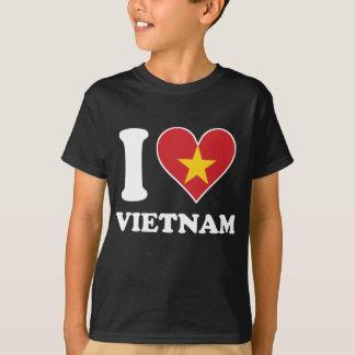 I Love Vietnam Vietnamese Flag Heart T-Shirt