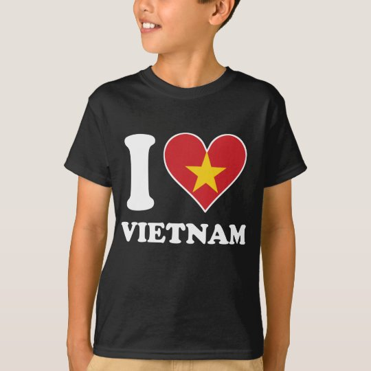 I Love Vietnam Vietnamese Flag Heart T-Shirt