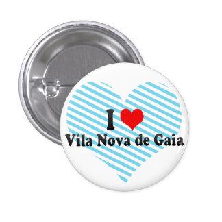 I Love Vila Nova de Gaia Portugal Pins