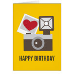 I Love Vintage Camera Greeting Card