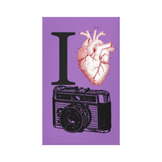 I Love Vintage Camera Photography Canvas Print