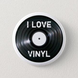 I Love Vinyl Record Button