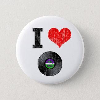 I Love Vinyl Records 6 Cm Round Badge