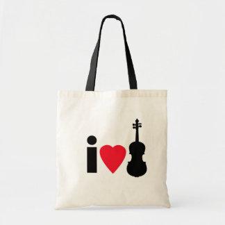 I Love Violin Tote Bag