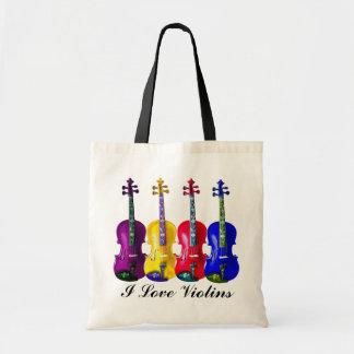 I LOVE VIOLINS-BAG TOTE BAG
