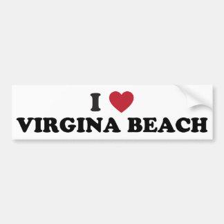 I Love Virginia Beach Virginia Bumper Sticker
