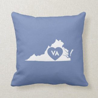 I Love Virginia State Throw Pillow