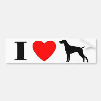 I Love Vizslas Bumper Sticker